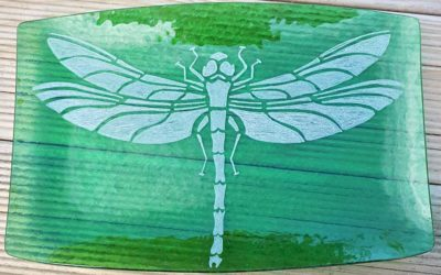 Glass Dragonfly Plate
